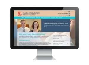Jackson & Gary website by Sullivan Solutions