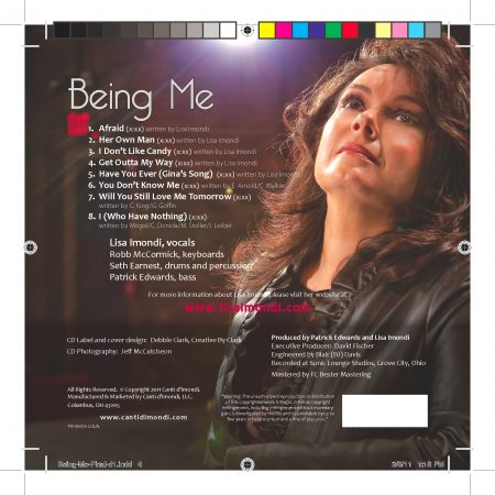 Being Me - CD Rear Cover