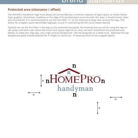 HomePro Handyman Brand Standards - sample page