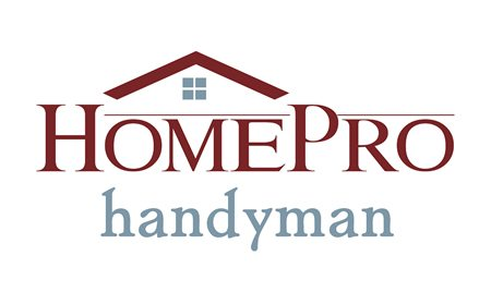 HomePro Handyman logo white bg version