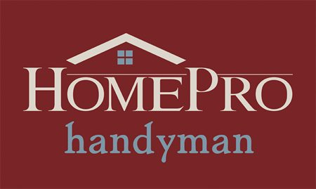 HomePro Handyman logo burgundy bg version